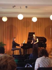Jack Olszewski, piano, and Kate Johnson, soprano, at the Haus der Kunst
