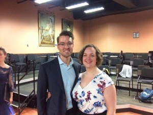 Mezzo Victoria Marshall and collaborative pianist John Gilmour of Philadelphia after The Art Of Latin Song concert at VISI on Saturday, June 25, 2016