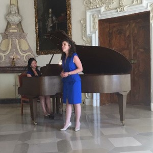 Sarah Forestieri And Seoyon MacDonald Performing  In The Stift Heiligenkreuz