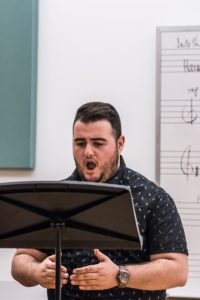 Elias Theocharidis, tenor, performing in master class with soprano Karen Holvik -- Photo Credit Jeanine Hill Photography