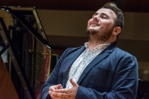 Elias Theocharidis, tenor, performing in the Studio Artist master class with coach Martin Katz -- Photo Credit Jeanine Hill Photography