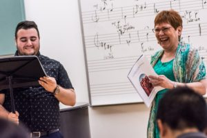 elias-theocharidis-tenor-sharing-a-laugh-with-soprano-karen-holvik-in-master-class-photo-credit-jeanine-hill-photography